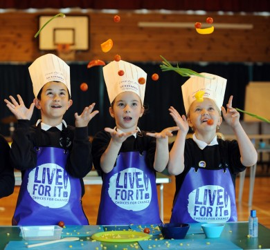 Sighthill Primary pupils/healthy eating