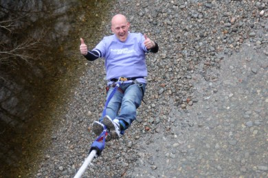 Could we be bungee jumping for your charity next year?