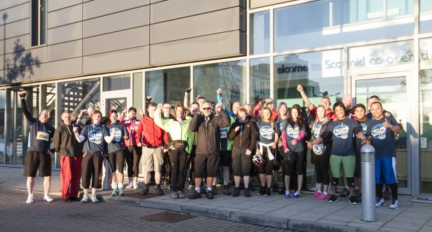 The Scotmid team before the start of Pedal for Scotland.