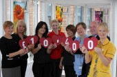Staff from Semichem and the Children's Heartbeat Trust celebrate raising £10,400 during their charity partnership.
