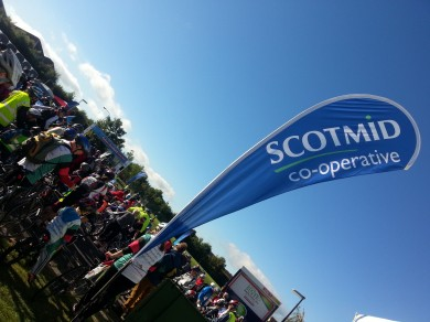 Scotmid sponsored and ran the rest stop at Kirkliston.