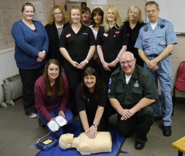 Staff completed their defibrillator training with the Scottish Ambulance Service.