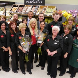 Aylissa Boyce with the Scotmid Laurencekirk team.