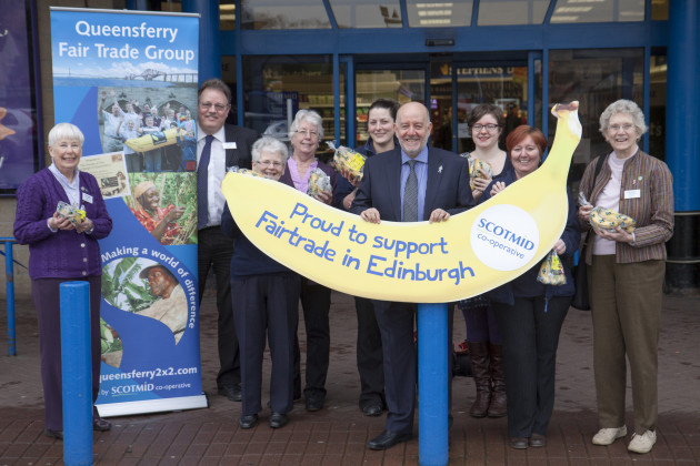 The Queensferry Fairtrade Group helped launch Fairtrade Fortnight at Scotmid South Queensferry.
