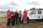 Lakes and Dales presents Penrith Mountain Rescue with the defibrillators.