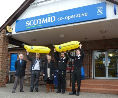 Montrose Fairtrade Group mark the start of the Fortnight at Scotmid Borrowfield.