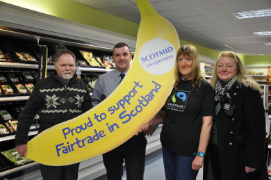 Strathaven Fairtrade Forum visited Scotmid Strathaven.