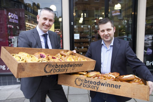 Danny Scobie from Scotmid with Kris McVey from The Breadwinner.