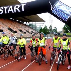 Team Scotmid start the Edinburgh Night Ride.