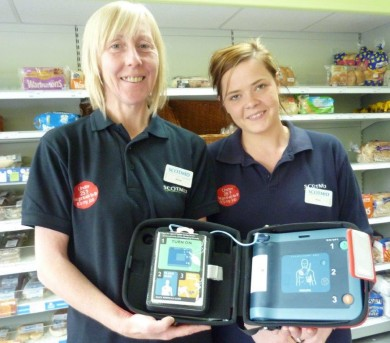 Mandy Whiteford and Jenna McDicken from Scotmid New Cumnock.