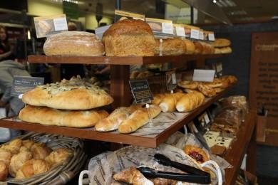 The Breadwinner Bakery table in Scotmid Stockbridge