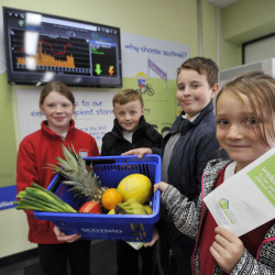 Eco council pupils from Craigour Park Primary School visited the new store.