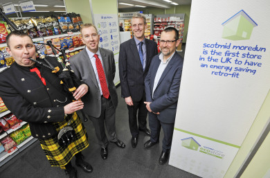 John Brodie, Scotmid CEO; David Still, CBES MD; and Iain Gulland, Director of Zero Waste Scotland.