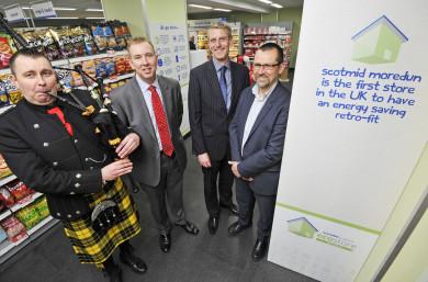 John Brodie, Scotmid CEO; David Still, CBES MD; and Iain Gulland, Director of Zero Waste Scotland.