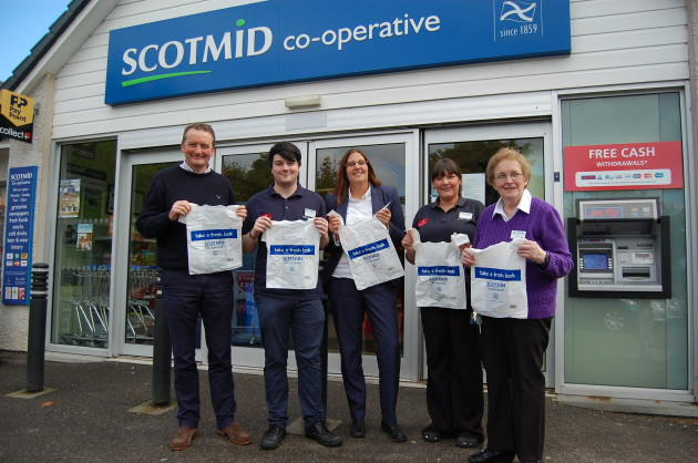 Scotmid recently donated carrier bag funds to the RSPB.
