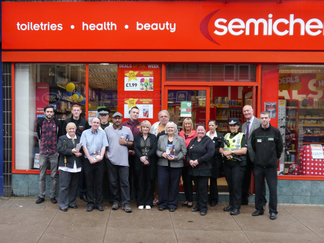 Members of the Victoria Road Crime Reduction Partnership Scheme