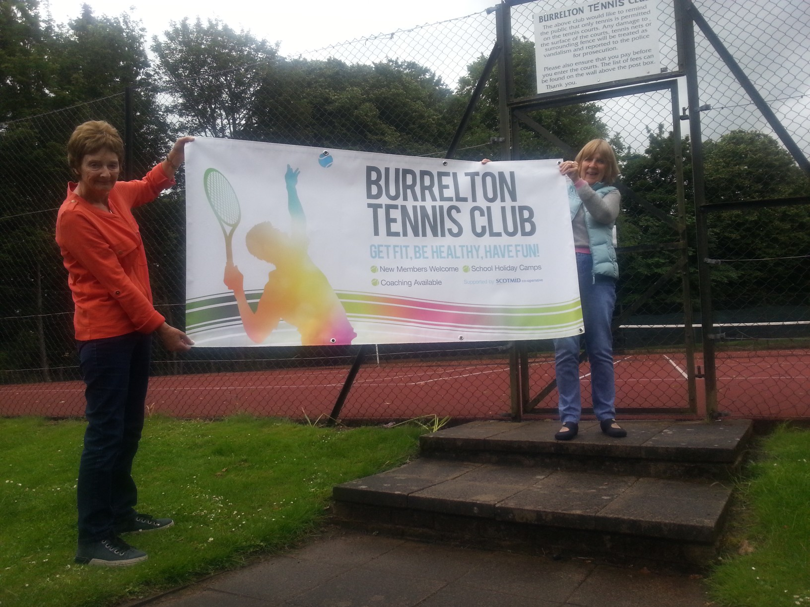 Support for open days & new banner.