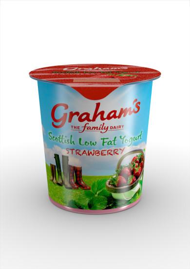 Graham's The Family Dairy new strawberry yogurt 150g pot (2)