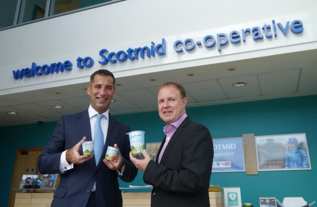 Robert Graham, Managing Director, Graham's the Family Dairy (l) with Colin McLean, Scotmid's Chief Operating Officer