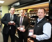 Stephen Brown, Tony Cable (both Scotmid) and Andrew Booth (Owner and Managing Director of The Store)