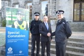 Scotmid Co-operative's Steve McDonald and Steve Ferguson with Assistant Chief Constable Cowie.